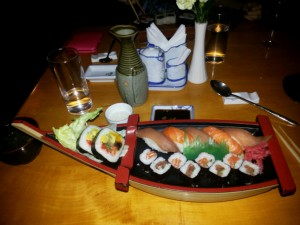 Sushi at Furusato - not a local luxury